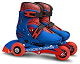 Stamp SM250301 Adjustable Two in One 3 Wheels Skate Size 27-30, Niño, Azul & Red, Talla
