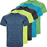 ROLY Camiseta técnica Hombre | Pack 5 | Manga Corta | Transpirable | Deporte: Fitness, Running, Crossfit,...