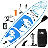 Tabla de Paddle Surf Hinchable Sup Inflatable Stand up Paddle Board PVC con Bomba de Doble, Remo Ajustable,...